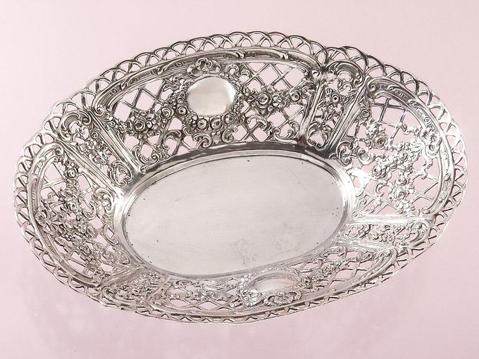 Silberschale Durchbrucharbeit 800er Silber Pforzheim