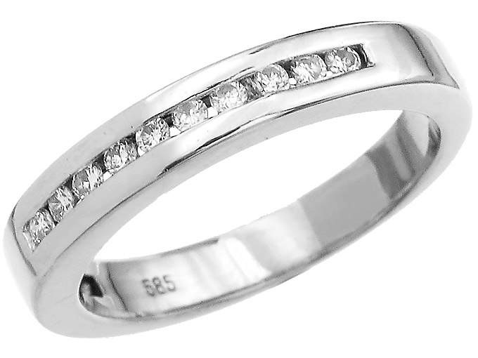 Ring Diamonds 14 Carat White Gold
