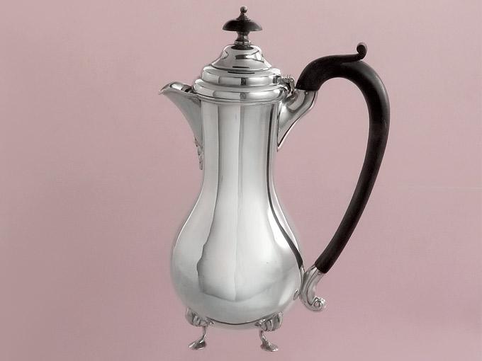 Mokkakanne Kakaokanne Silberkanne 925er Silber Birmingham 1907