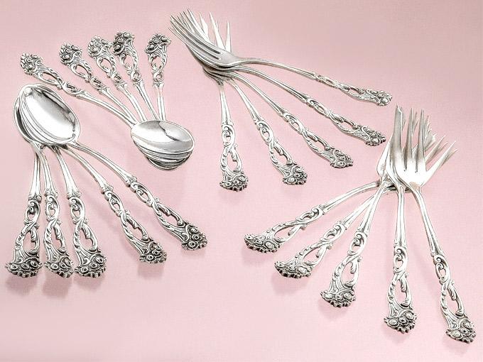 Coffee Cutlery Cake Forks Coffee Spoons 800er Silver German