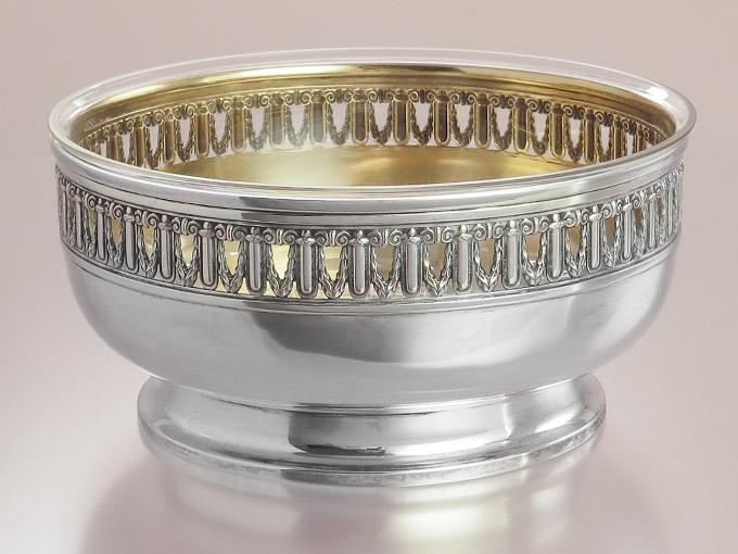 Bowl with Crystal Glass Insert Koch & Berfeld 800 Silver
