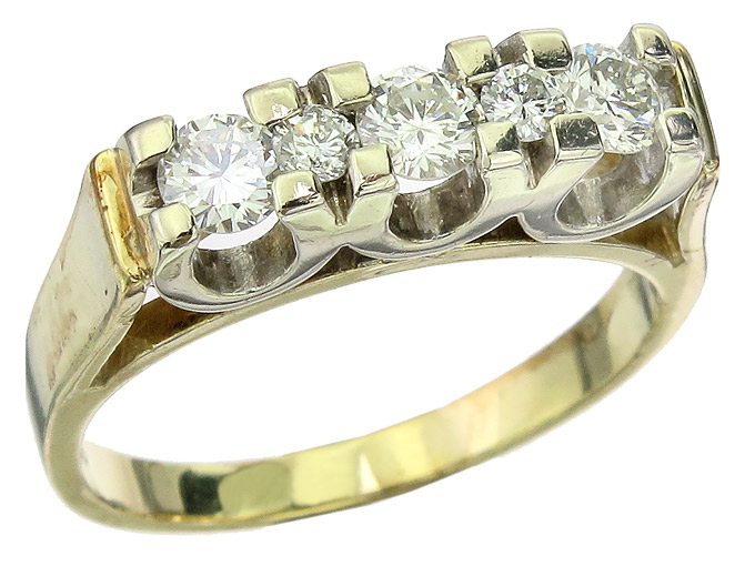 Ring Brillanten 585er Gelb- und Weissgold