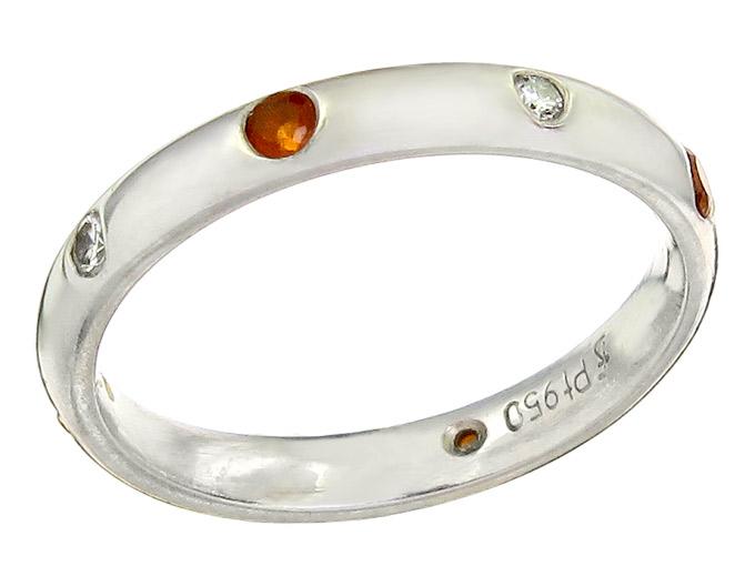 Eternity Ring Diamonds Colored Stones Platinum
