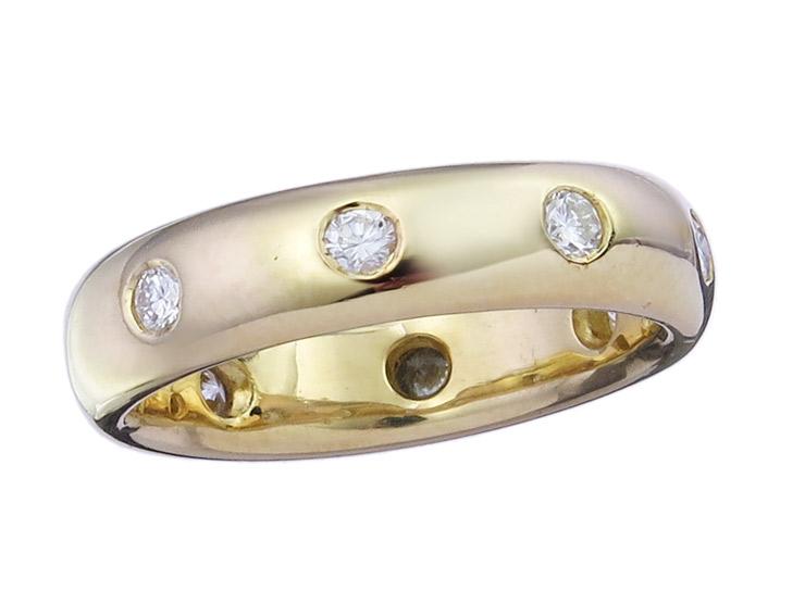 Memory Ring Brillanten 750er Gelbgold
