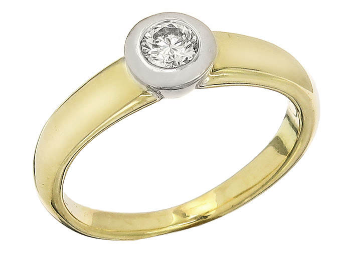 Solitaire Ring Diamond 14 Karat Yellow Gold