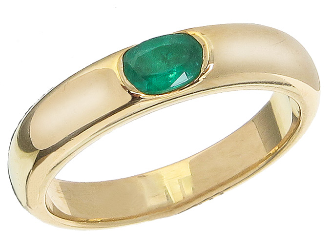 Ring Smaragd 750er Gelbgold