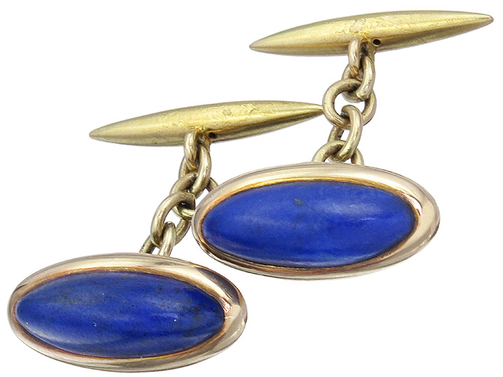 Manschettenknöpfe Lapis Lazuli 585er Gelbgold