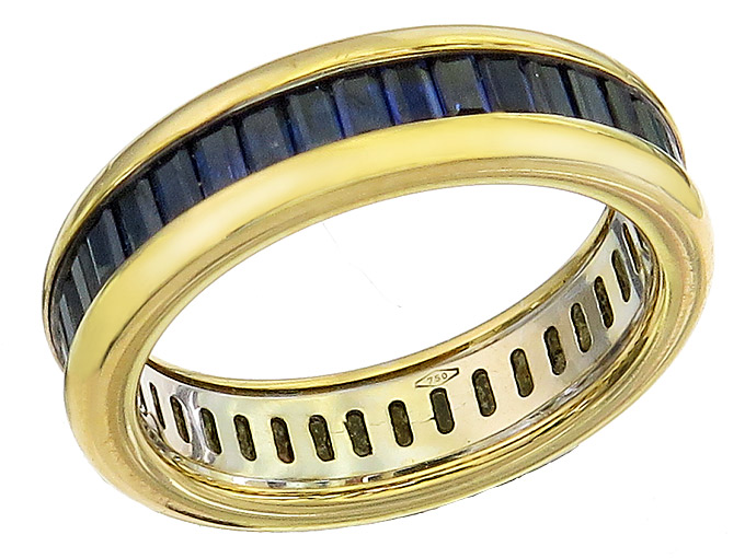 Eternity Ring Sapphires 18 Karat Yellow Gold