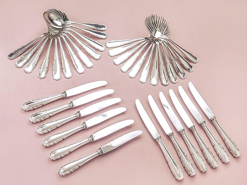 Menu Cutlery Austria 800 Silver around 1920