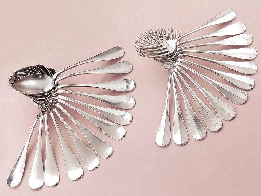Cutlery from Austria Vienna / Graz around 1900 800 Silver