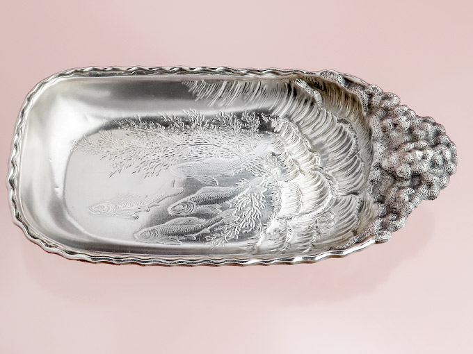 Caviar bowl Sterling America Manufacturer Wood & Hughes