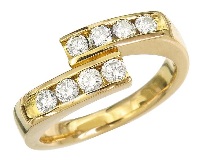 Ring Diamond 18 Karat Yellow Gold
