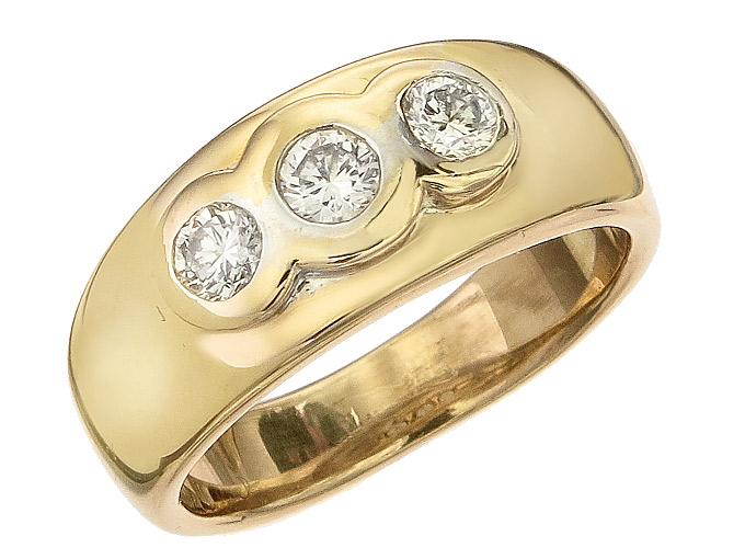 Ring Diamonds 14 Karat Yellow Gold