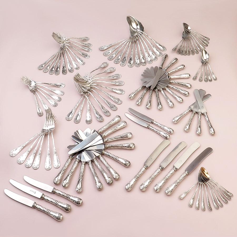 Besteck Jugendstil Koch & Bergfeld 800er Silber
