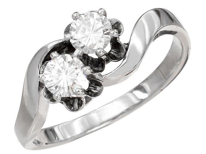 Ring Diamonds 18 Karat White Gold