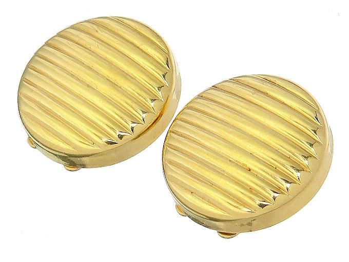 Knopfclips 750er Gelbgold