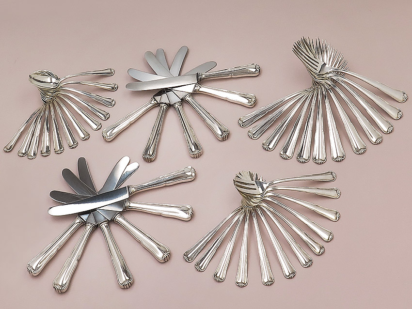 Cutlery 800 Silver Franz Bahner Mansfelder Silver