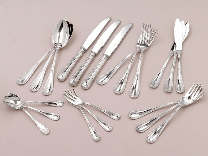 Silver Cutlery Koch & Bergfeld 800 Silver Louis XVI Design