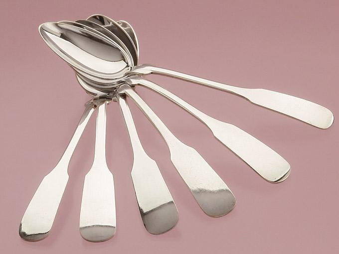 Dessert Spoon Franz Bahner Spade Pattern 800er Silver