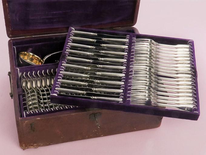 Silver Cutlery Augsburger Faden 1877