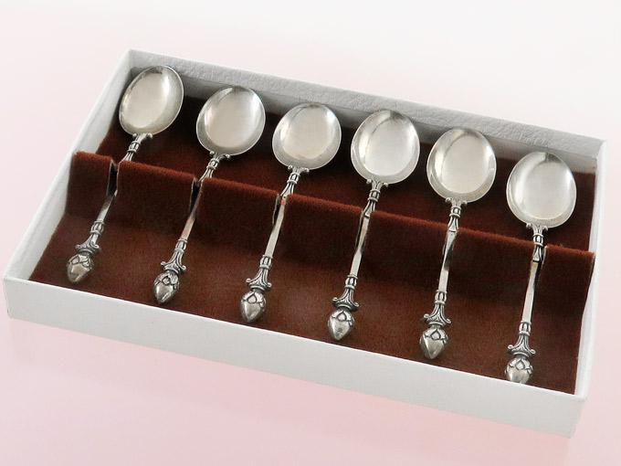 Mocha-  Espresso Spoon French Empire Decor Handmade 835 Silver