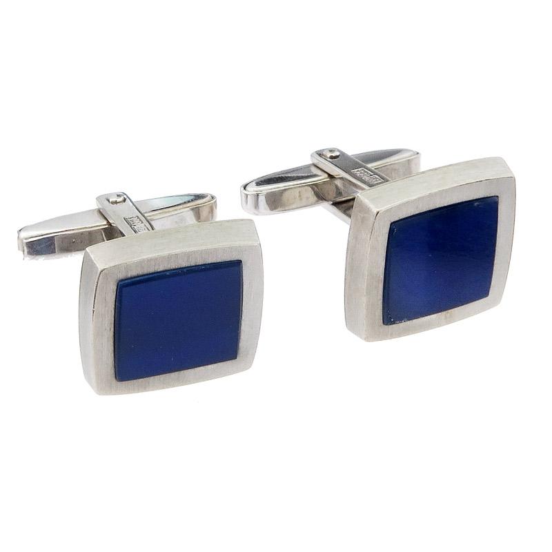 Cufflinks Lapis Lazuli 8 Karat White Gold