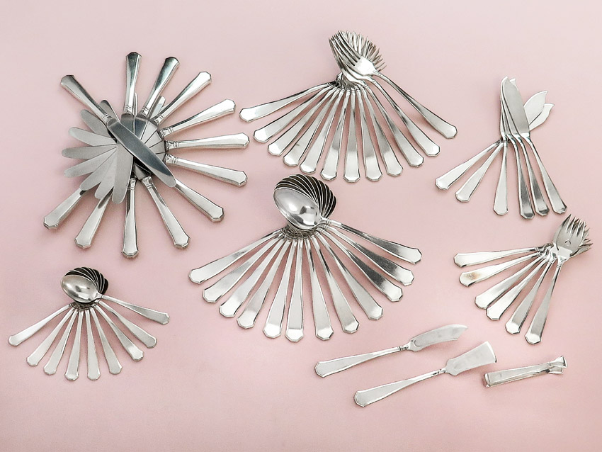 Cutlery Art Deco Silver Plated