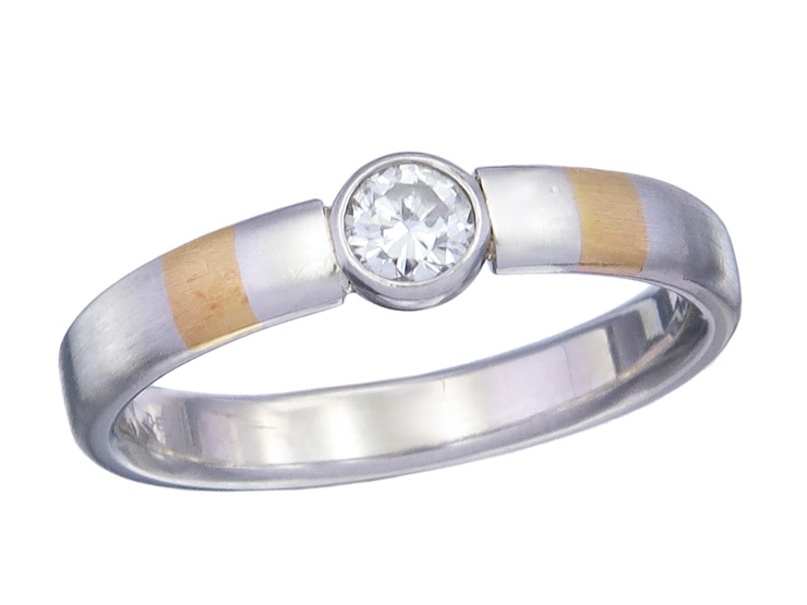 Ring Solitaire Diamond 950 Platinum