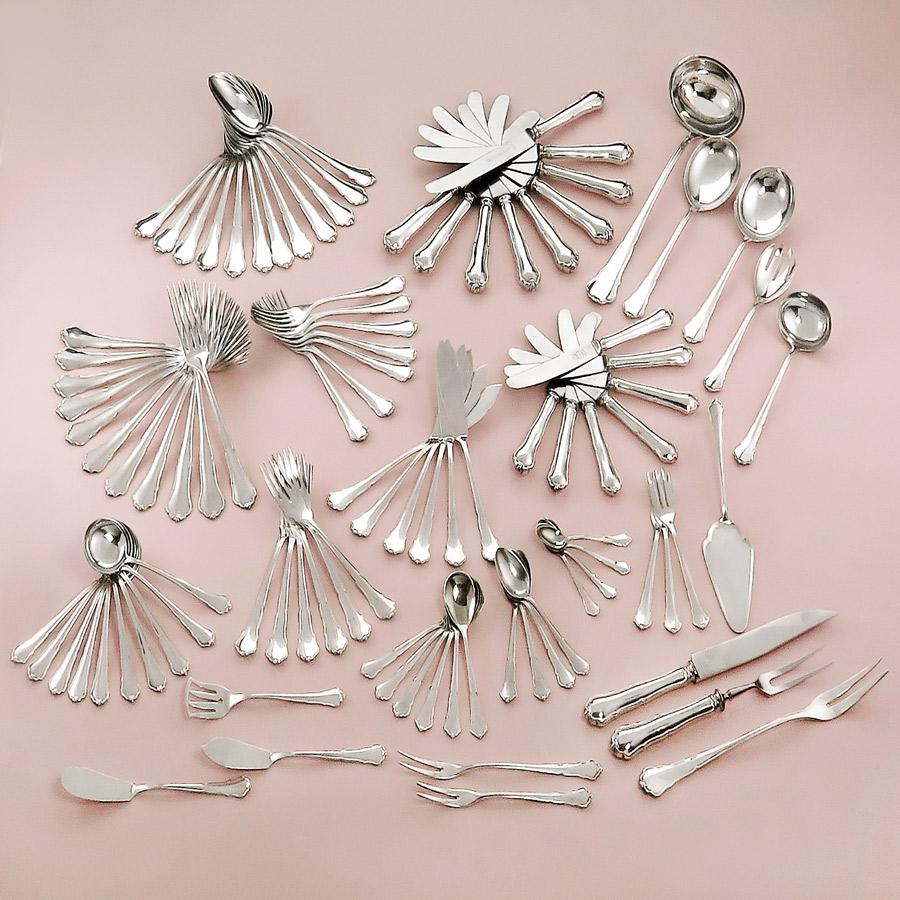 Besteck Wilkens Dresdner Barock 800er Silber
