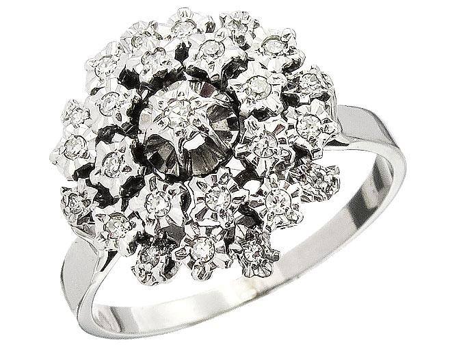 Ring Diamanten 585er Weißgold Zertifikat
