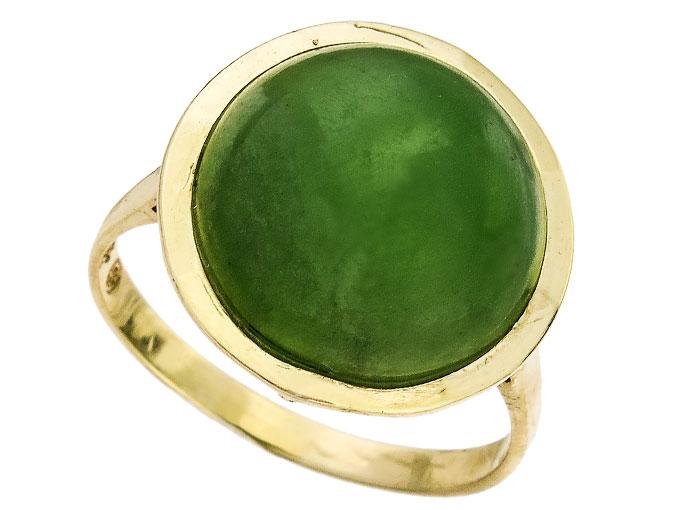 Ring Jade 333er Gelbgold Retro um 1960