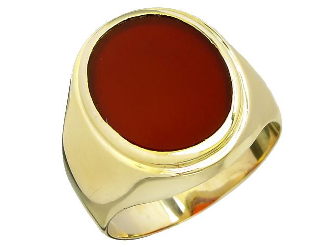 Ring Karneol 585er Gelbgold