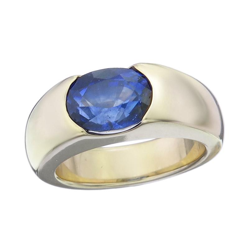 Ring Saphir 750er Gelbgold