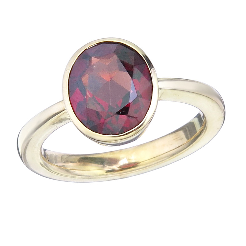 Ring Rodolite 14 Karat Yellow Gold