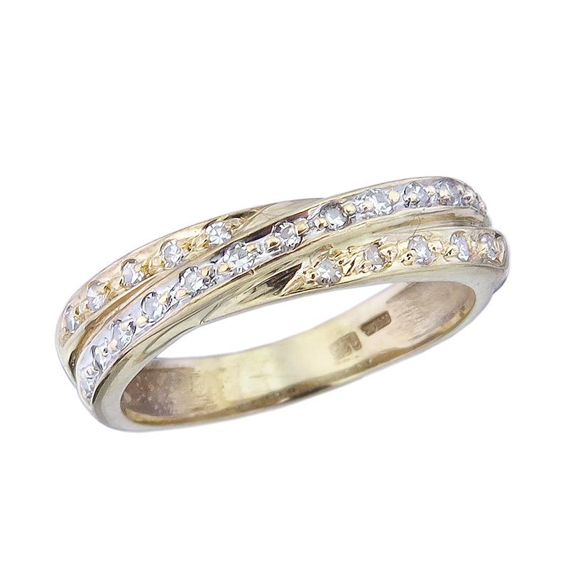 Ring Diamonds 14 Karat Yellow Gold
