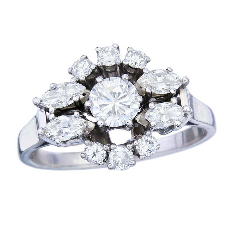 Ring Brillanten 750er Weißgold