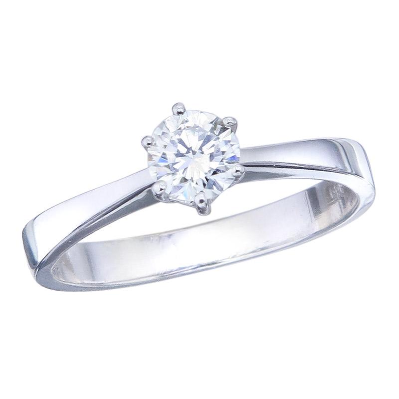 Solitär Ring Brillant 585er Weißgold