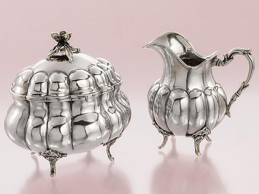 Milch & Zucker Set Deutsch 800er Silber