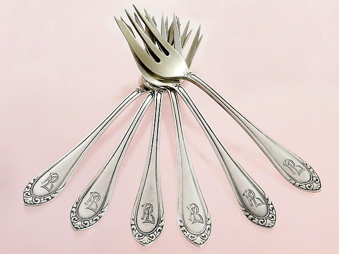 Kuchengabeln 800er Silber