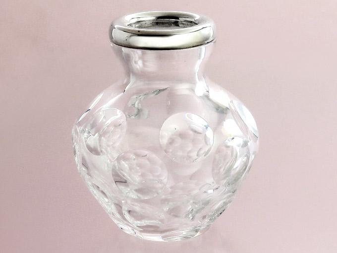 Blumenvase Kristallglas 835 Silber