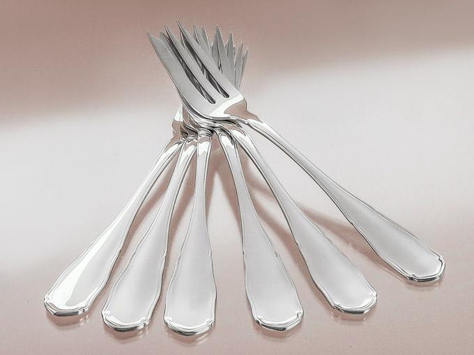 Cake Forks WMF Saxon Court Pattern 800 Silver