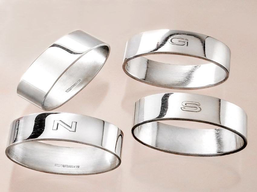 Napkin Rings BSF 800 Silver