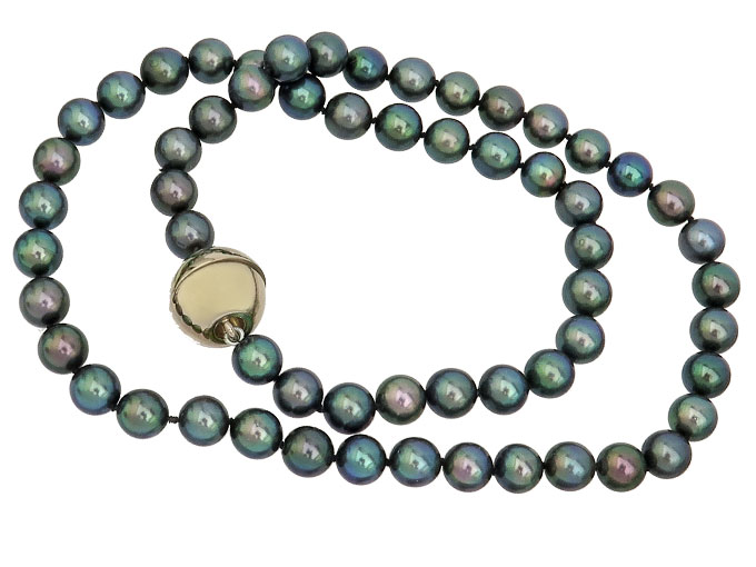 Necklace Black Pearls LANGER Magnetic Clasp
