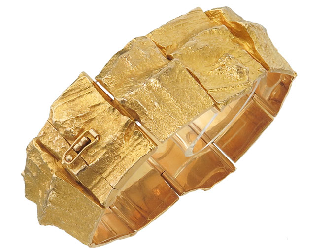 Lapponia Armband GOLDEN RIVER 585 Gelbgold Björn Weckström 1971