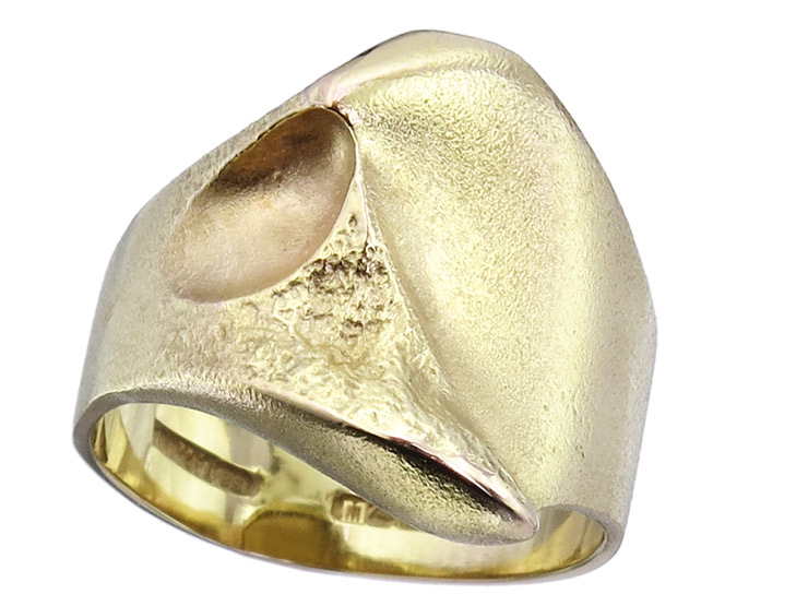 Lapponia Ring NUGGET 14 Karat Yellow Gold 1995