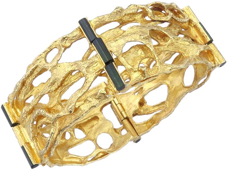 Lapponia Armband Turmaline 750er Gelbgold Björn Weckström 1971 SEHR SELTEN