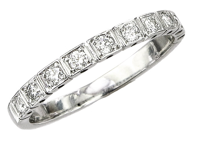 Eternity Ring Diamonds 14 Karat White Gold