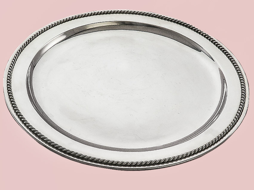 Round Tray made in Hanau 800 Silver