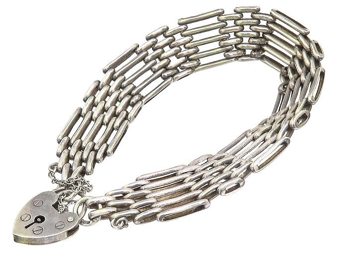 Armband Herzschloss Anhänger 925er Silber England