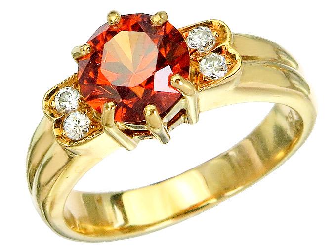 Ring Citrin Brillanten 750er Gelbgold